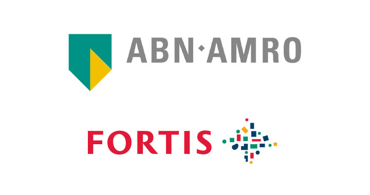 Logo for ABN AMRO + FORTIS BANK NETHERLANDS
