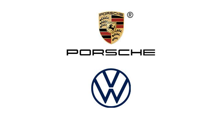 Logo for PORSCHE + VOLKSWAGEN