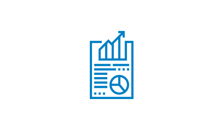 Icon of a document with a charts