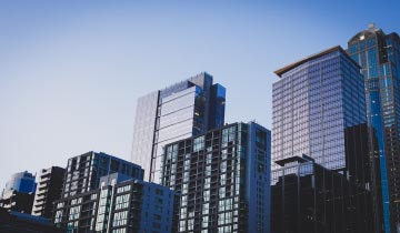 Image of several high rise towers to portray the Boston Real Estate case study