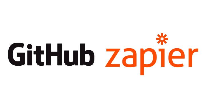 Logo of GitHub and Zapier