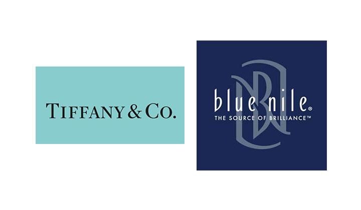 Logo of Tiffany & Co and Blue Nile