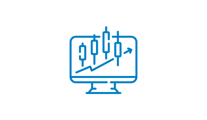 Icon of stock market graph